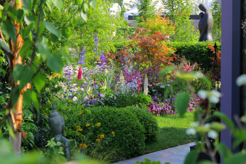 this creative garden design is based on a calming relaxing theme with soft textures and soothing colours a seamless transition between the interior and - Garden Design Kildare